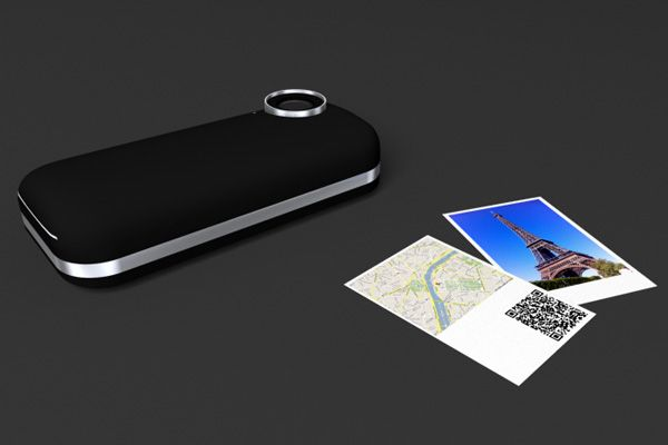 Iphone case that prints like a polaroid!
