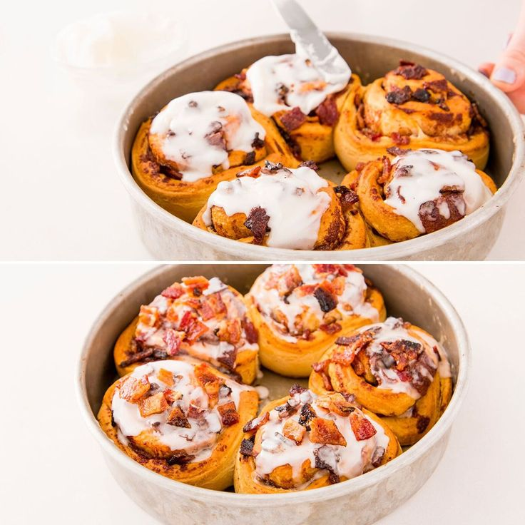 Bacon + cinnamon rolls? WHAT A TIME TO BE ALIVE.