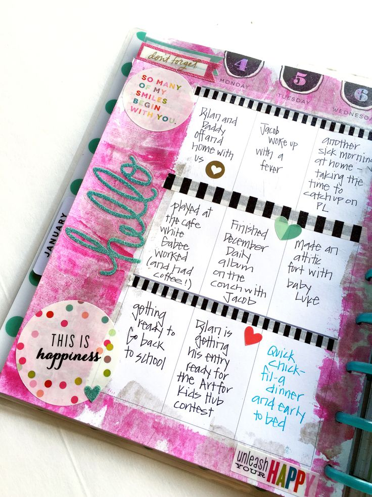 paint January week in The Happy Planner™ of mambi Design Team member Casie Gutierrez \ me & my BIG ideas
