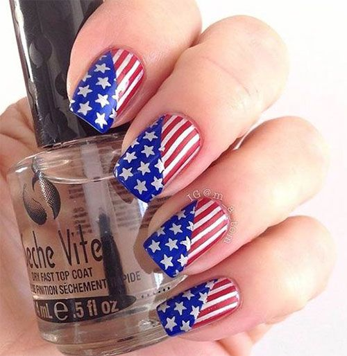 1000 ideas about american flag nails on pinterest flag for 4th of july nail art decoration flag
