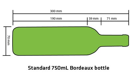 Image result for typical wine bottle dimensions