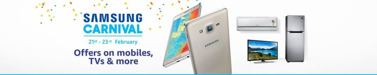 Samsung Carnival Sale Offers on Amazon India are Live. This Sale period is from Feb 21st to 23rd. There are Deals and Offers on Samsung Mobiles, TVs, ACs, Refrigerators, other Appliances etc available. Mobiles such as Galaxy On8 Pro, On5 Pro, On8 etc on Discount. Check out the Samsung Carnival Sale Offers Page at Amazon.in …