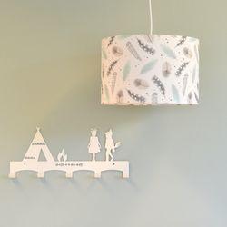 Hanglamp feather Mint, grijs, wit