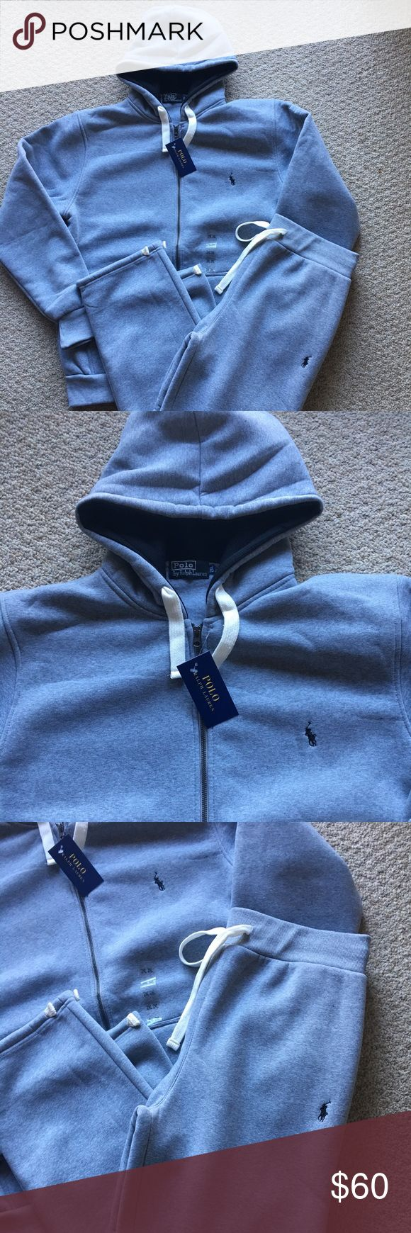 New Ralph Lauren Polo Hoodie Sweatpants Set XXL Brand new with tags. Light Grey Color. Great gift for the holidays! Polo by Ralph Lauren Pants Sweatpants & Joggers