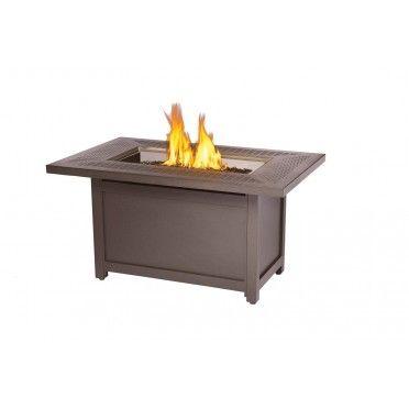 Napoleon Madrid Bronze Gas Fire Table, Rectagular