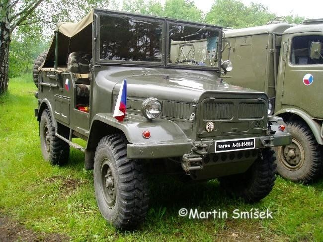 """Tatra 805 Stabni (Staff) was a prototype for a """"jeep"""" on the 805 chassis. It was too heavy and underpowered and did not go into production"""