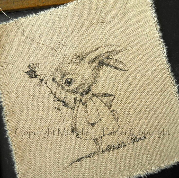 "Michelle Palmer  Michelle Palmer's original pen  ink illustrations are copyright protected. There is a woman copying her fabric illustrations. ""Copyright Michelle L. Palmer"" will appear as a watermark through her original designs. Watch for this ribbon when purchasing a fabric piece from Etsy."