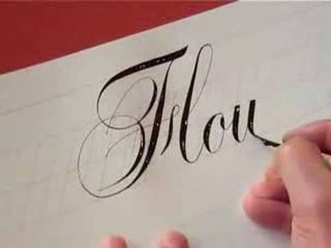 ▶ [Video] Cómo escribir Copperplate por Hamid Reza Ebrahimi  #tipografía