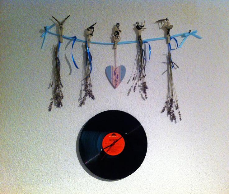 Schallplattenuhr