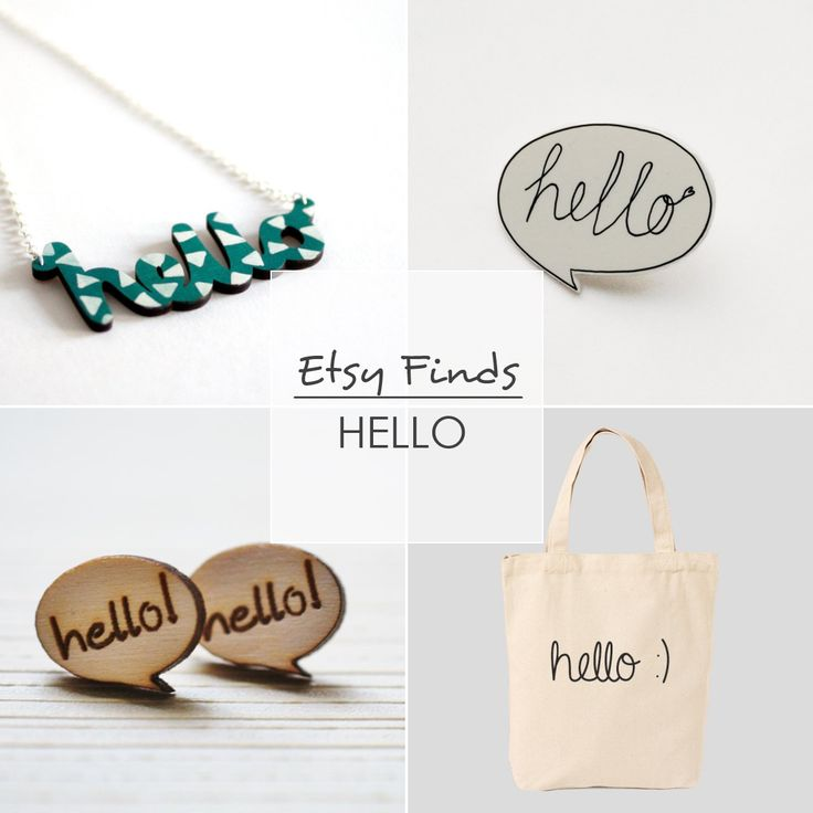 Etsy Finds - Hello | Adorablest