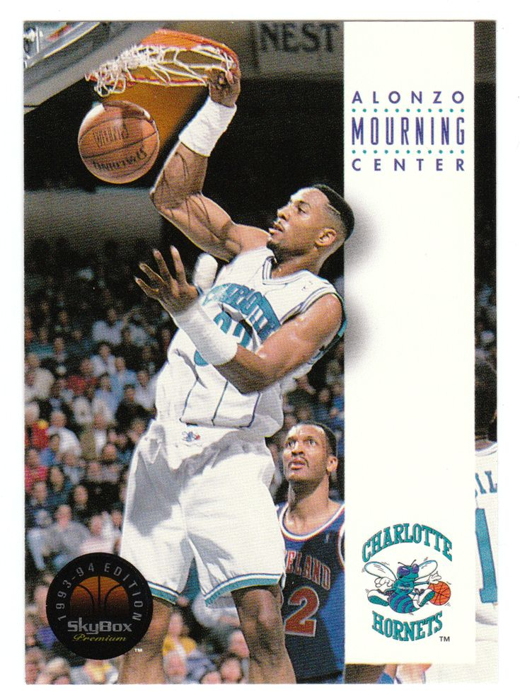 Alonzo Mourning # 40 - 1993-94 SkyBox Premium Basketball