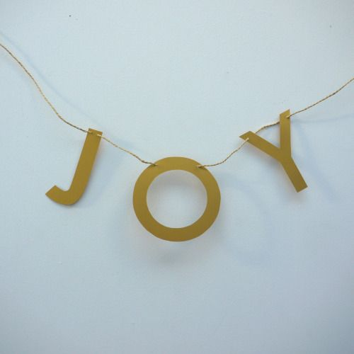 JOY - spread some this Christmas with our good vibes letter banner. £1/letter  Luxury handmade paper decor by Paper Street Dolls  Check out our store - paperstreetdolls.etsy.com