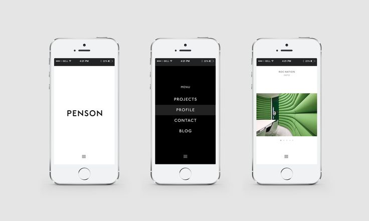 Penson Group Website designed by She Was Only