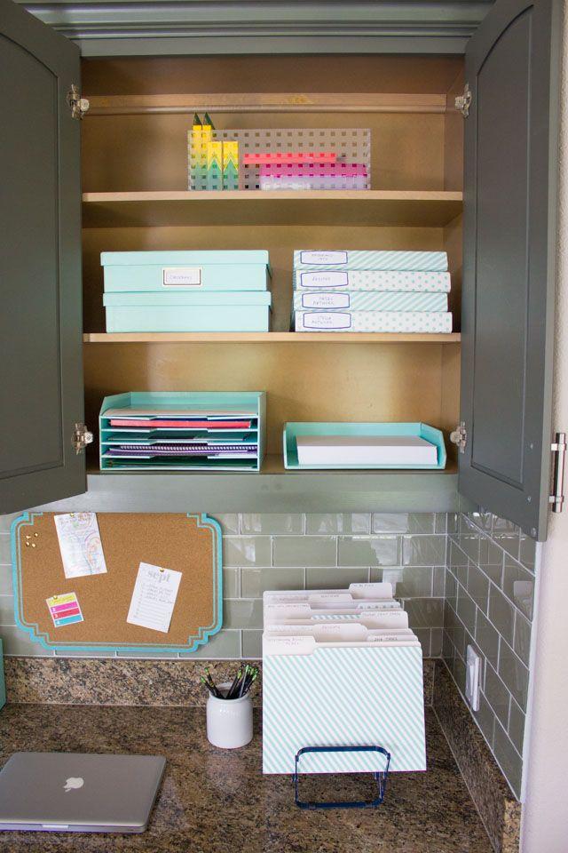 Facile Bricolage Pour Organiser Votre Fouillis De Papier Astuce Rangement Rangement Maison Organisation De Paperasse