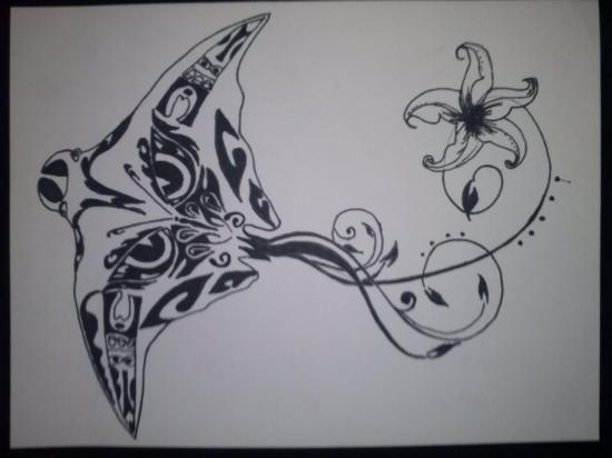 raie manta  style maori