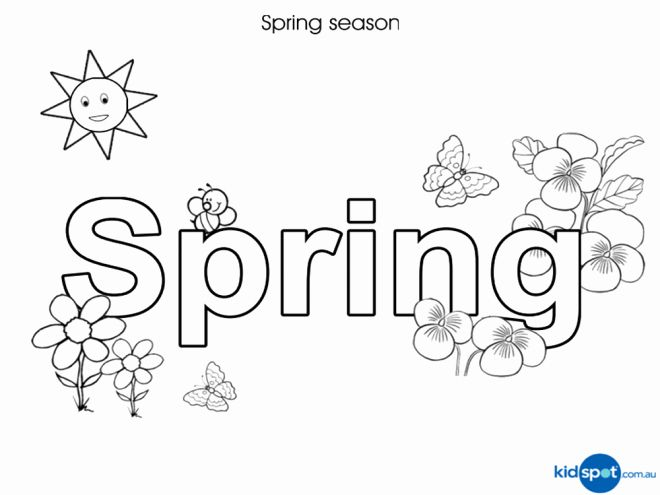 Spring Break Coloring Sheets Elegant Kids Seasonal Worksheets In 2020 Spring Coloring Pages Coloring Pages Flower Coloring Pages