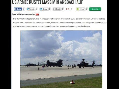 Kriegsschauplatz Deutschland US Armee rüstet massiv in Ansbach auf!