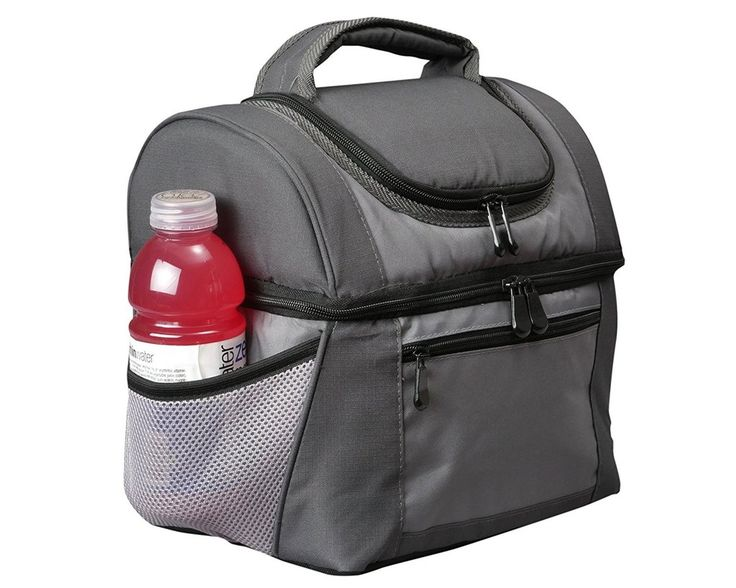 Office Lunch Bag For Men with No-Leak Liners, Insulated Double Decker Professional Lunch Box