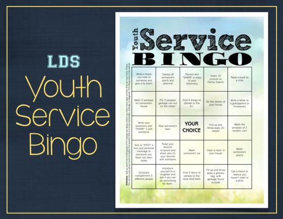 Youth Service Bingo Image