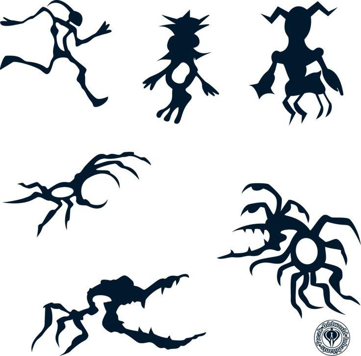 All oddworld tattoos Abe, munchy, stranger?, paramite, scrab, and skrykull