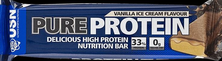 USN Pure Protein Bar Vanilla Ice Cream 12 x 75g USNs Pure Protein meal replacement bar is a convenient nutrition snack. It is designed for active people who demand the benefits of high quality proteins and complex carbohydrates. This complete engin http://www.comparestoreprices.co.uk/vitamins-and-supplements/usn-pure-protein-bar-vanilla-ice-cream-12-x-75g.asp