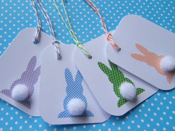 Easter Gift Tags - Bunny Gift Tags $4.50, via Etsy.