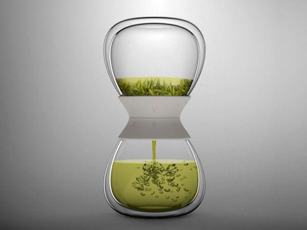 Tea-time – Tea Steeper Design by Pengtao Yu: Teas Infused, Hot Teas, Teas Maker, Teas Timer, Teatim Teas, Pengtao Yu, Hourglass Teas, Teas Pot, Teas Steeper