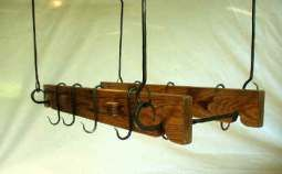 wood and wrought iron pot rack - Google Search
