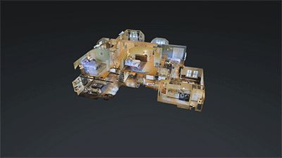 Matterport's 3D Showcase provides an immersive sense of a property. Great for real estate.