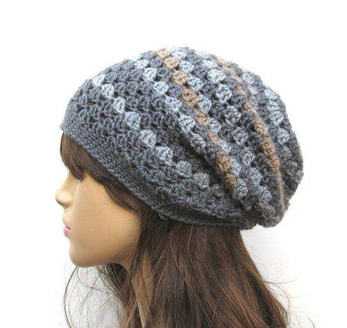 Free Crochet Slouch Hat Pattern | Crochet Hat - Slouchy Hat, Crochet ...