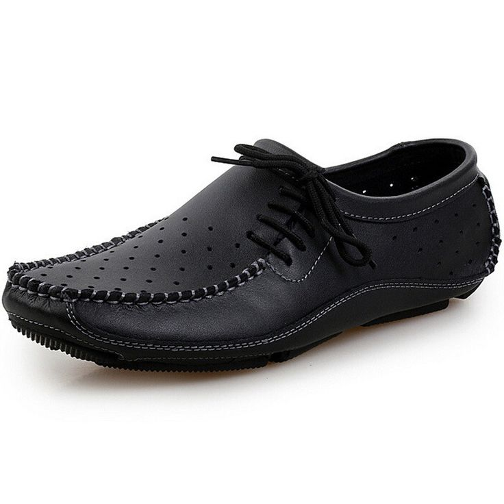 New British Men Casual Shoes Slip On Flat Loafers Spring Summer Handmade Genuine Leather Boat Shoes Men Flats Driving Shoes