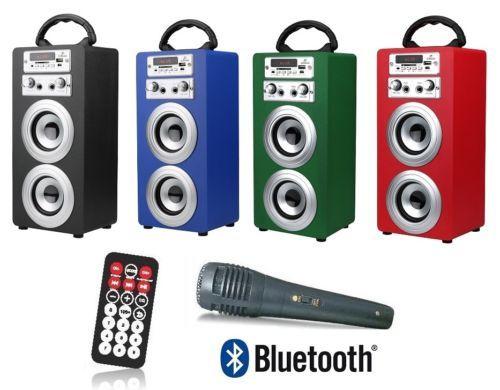 Altavoz portátil Bluetooth/USB/Radio + Microfono Karaoke