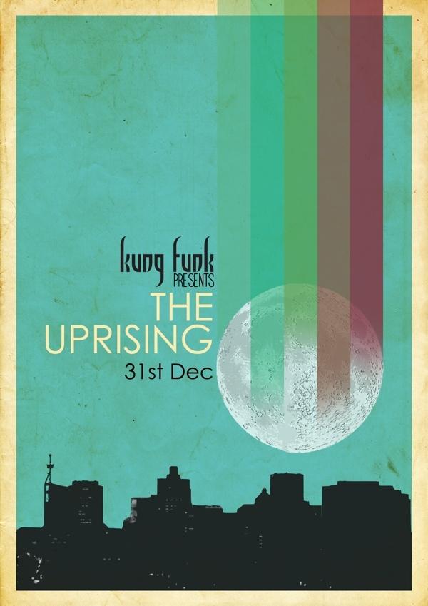 Kung Funk December 2012 season calendar/flyers. on Behance