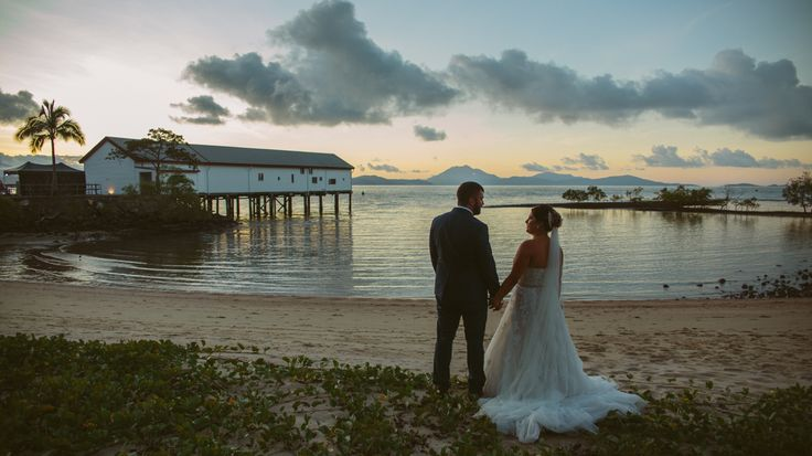 Emma & Matthew at the Sugar Wharf Port Douglas