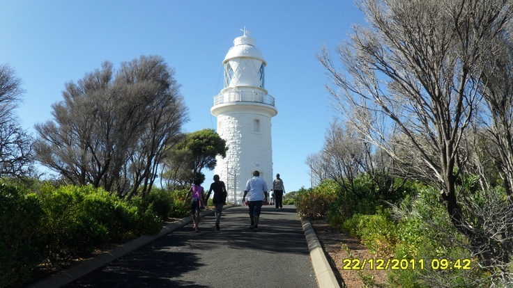Cape Nautraliste Lighthouse near Busselton, Western Australia - 60 steps to the top