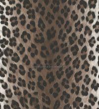 Papel pintado piel de leopardo diseño tonos marrones - 1141639