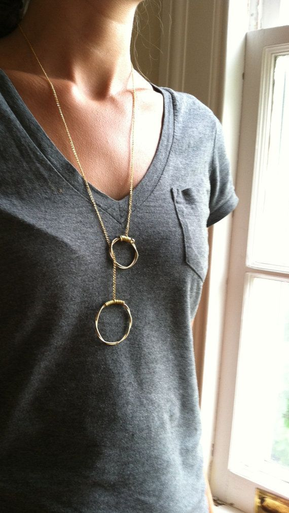 Gold Guitar String Necklace w/ Toggle Closure by LuckyStrings Handmade OOAK and easy DIY