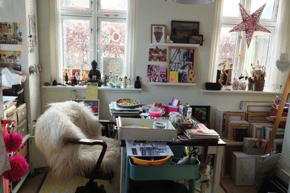 Mit dejlige krearum - med masser af kreativt rod. Fotograf: Susanne Randers