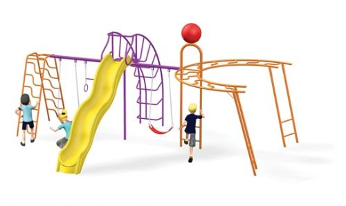 Conjunto Media Luna | Juegos Residenciales | Jumbo | PRODUCTOS JUMBO | Fabricante y distribuidor de juegos infantiles, mobiliario urbano, gimnasios al aire libre, pisos de seguridad en Puebla, México