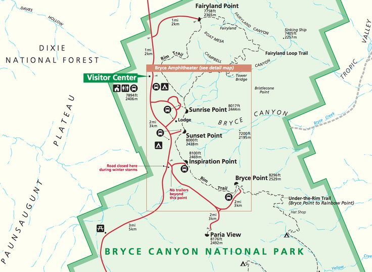 bryce canyon map Google Search Travel Pinterest Bryce canyon