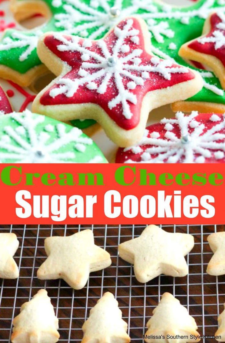 Cutout Cream Cheese Sugar Cookies Cookies Bars And Candy Recipes
