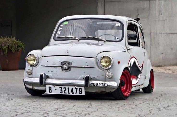Fiat 600 - Rat style   Lowered, Slammed, Stance
