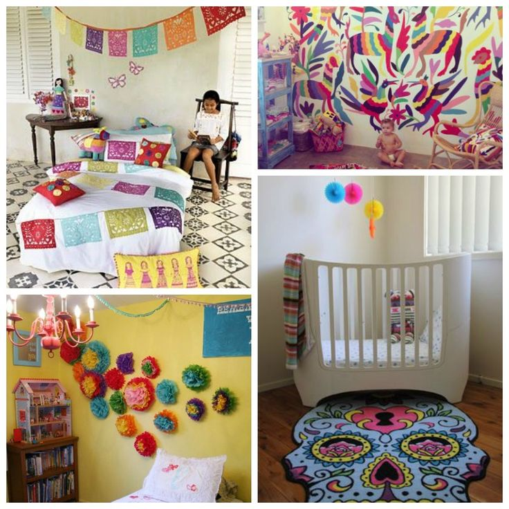 Quirky Bohemian Mama - A Bohemian Mom Blog: Mexican Themed Baby Nursery Inspiration {Colorful Mexican boho/bohemian kid's room}