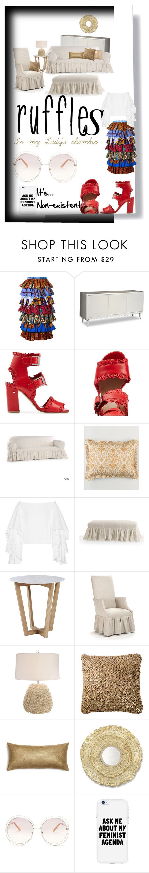 """""""In my lady's chamber"""" by rhaxkido ❤ liked on Polyvore featuring Stella Jean, Laurence Dacade, Country Curtains, Rosie Assoulin, Lisa Luby Ryan, Palecek, Chloé and ruffles"""