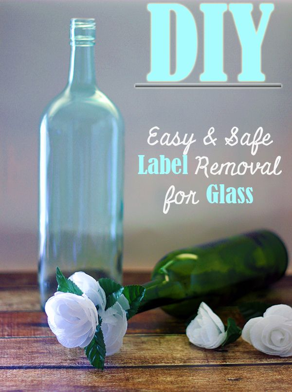 #DIY Easy and Safe way to Remove Sticky Labels from Glass Bottles #ad