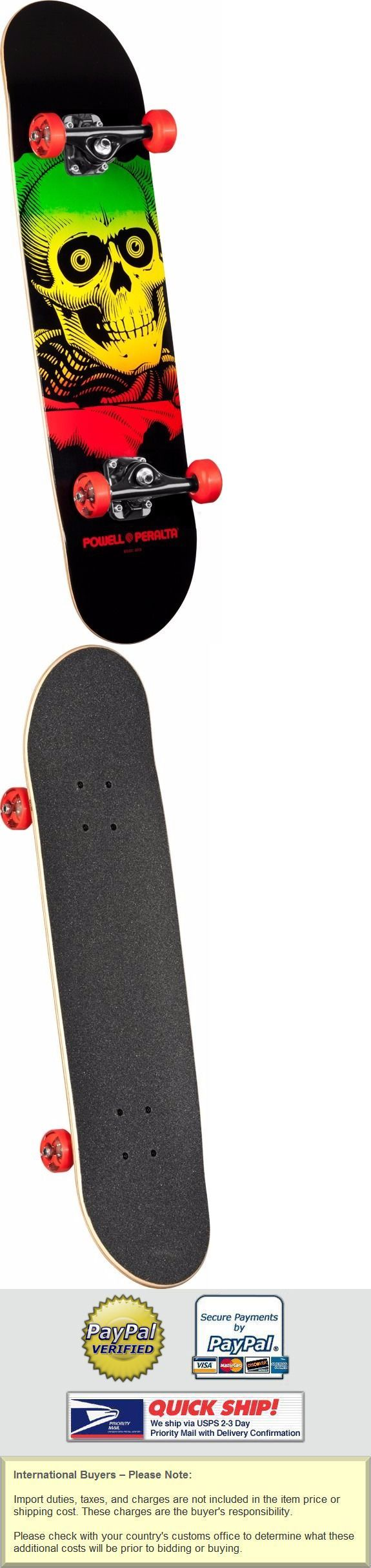 Skateboards-Complete 16264: Powell Peralta Ripper 7.75 Popsicle Complete Skateboard Rasta Red BUY IT NOW ONLY: $64.95