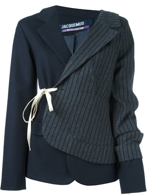 Shop Jacquemus patchwork blazer jacket in Dolci Trame from the world's best independent boutiques at farfetch.com. Shop 400 boutiques at one address.