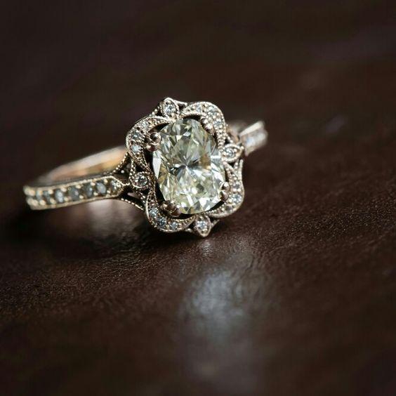 Marion Rehwinkel Jewellery South African Jeweller www.facebook.com/MarionRehwinkelJewellery 9ct Rose Gold Oval Diamond Antique Ring
