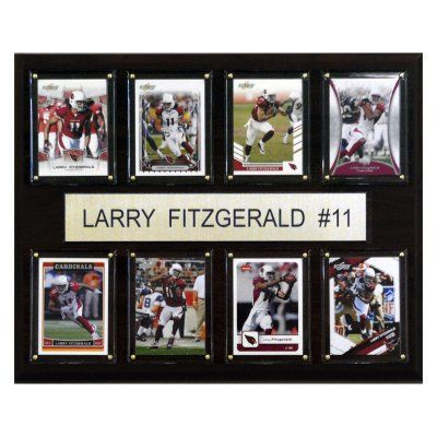 NFL 12 x 15 in. Larry Fitzgerald Arizona Cardinals 8 Card Plaque - 1215FITZ8C