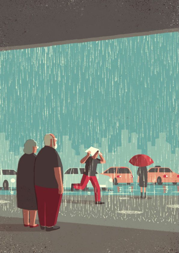 It's Nice That : Cute illustration project depicts an elderly couple exploring the city
